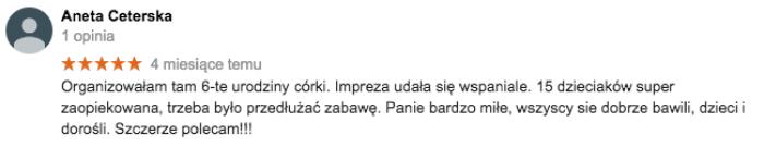 Sala zabaw Warszawa Bródno opinie
