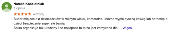 Sala zabaw Warszawa opinie