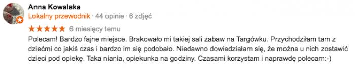 Sala zabaw Warszawa Targówek opinie
